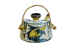 抱瓶(台形・魚紋)