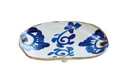 足付だ円皿(菊紋)